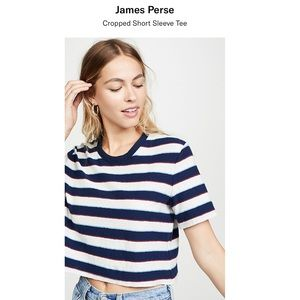 James Perse cropped short sleeve tee😻